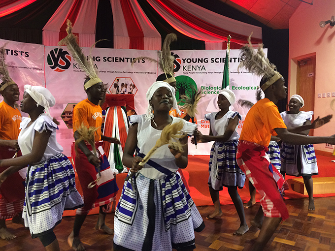 Dancers from St. Francis of Assisi Secondary School, Korogocho, Nairobi