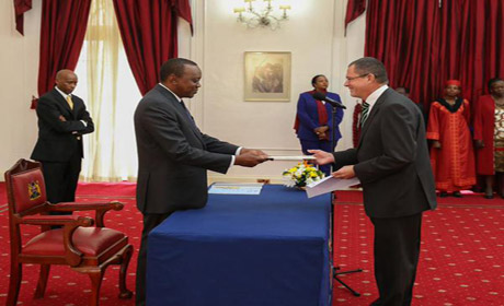 Ambassador O' Neill presents credentials as new ambassador to Irish Embassy Kenya