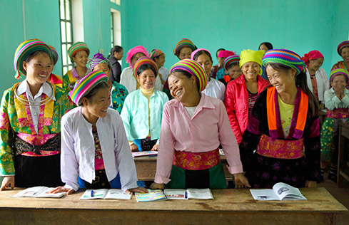 Hmong women's class in Vietnam. Photo by Frank Miller courtesy of The Irish Times.