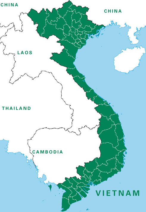 Large map of Vietnam
