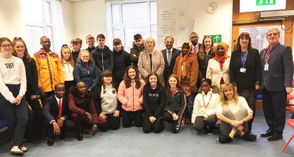 Young Scientists from Tanzania and Kenya visit the Irish Aid Centre